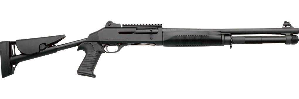 Benelli M4 Tactical Black synthetic, Tactical  Telescopic stock, Ghost-ring sight 18.5'|