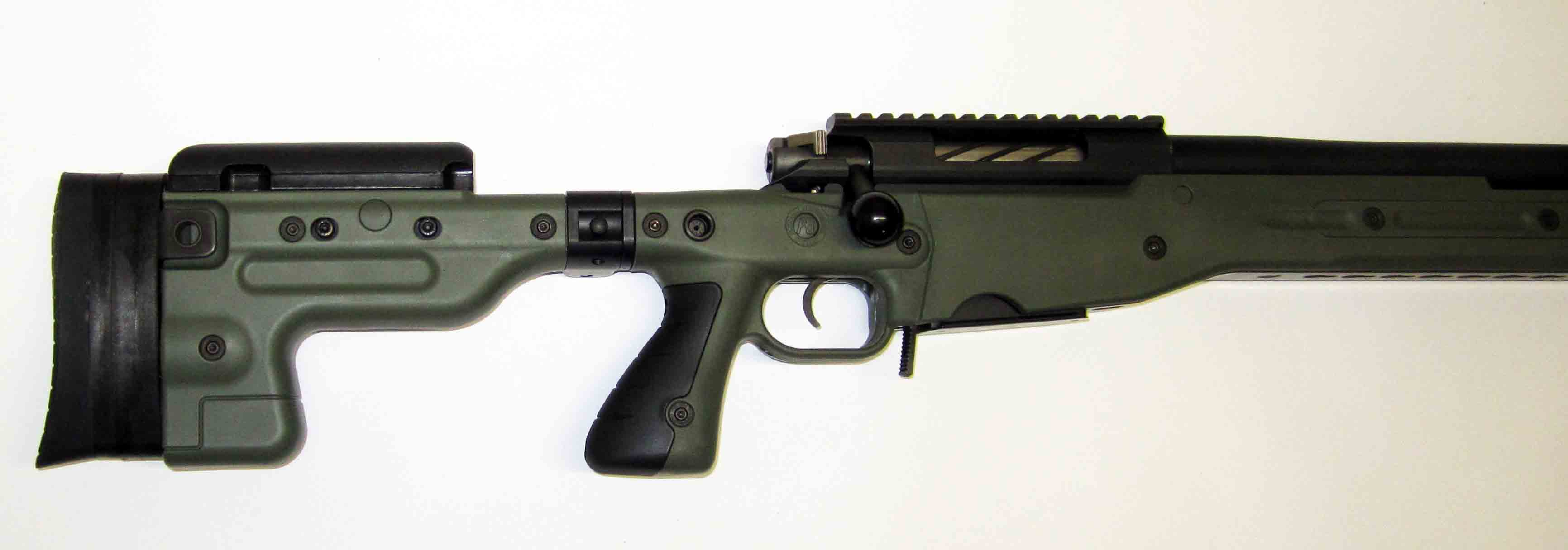 "Nimrod Rifle 26"". AT  folding stock . 308 . German custom action. Inc 5 rd mag. Green. Tac Muzzle Brake