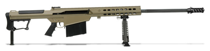 Barrett M107A1 Rifle System Tan Cerakote Receiver Black 29' Fluted Barrel 14559 14559