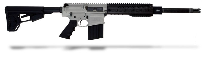 Christensen Arms CA-10 silver receiver, carbon wrap 308, 16 inch bbl, Magpul ACS Lite stock, one 20