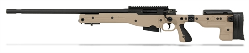 Accuracy International AT Rifle - Left Hand Folding Dark Earth Stock - 308 Win 26 inch plain threaded bbl, Tac Muzzle Brake|