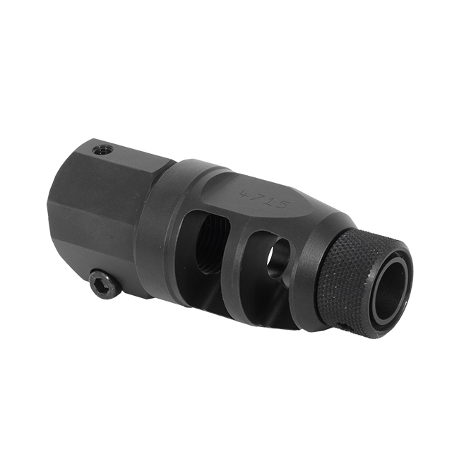 TACTICAL MUZZLE BRAKE ASSEMBLY, DOUBLE CHAMBER - THREADED FOR SUPPRESSOR|26804