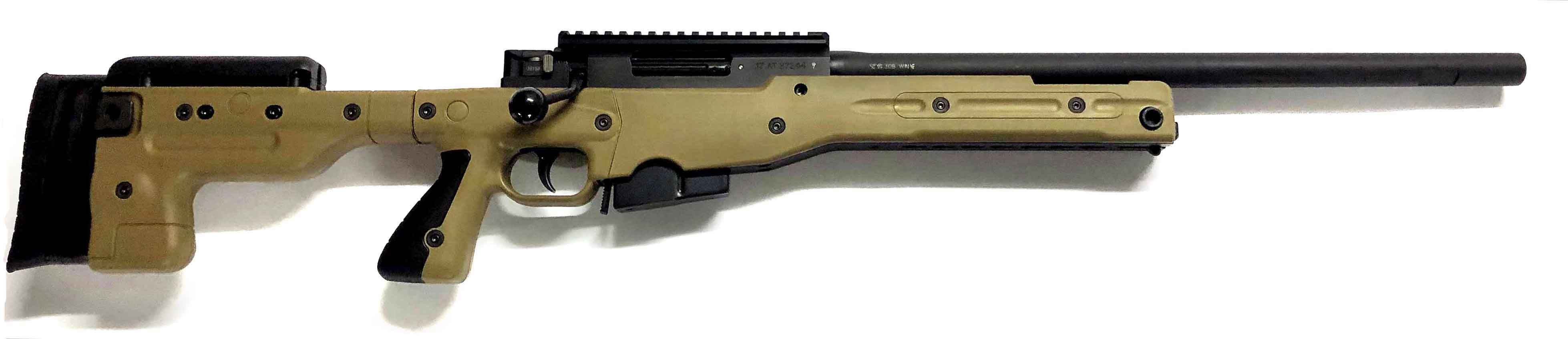 Accuracy International AT Rifle - Fixed Dark Earth Stock - 308 Win 20 inch non threaded bbl -|AT-308WNFIDE20PL0M