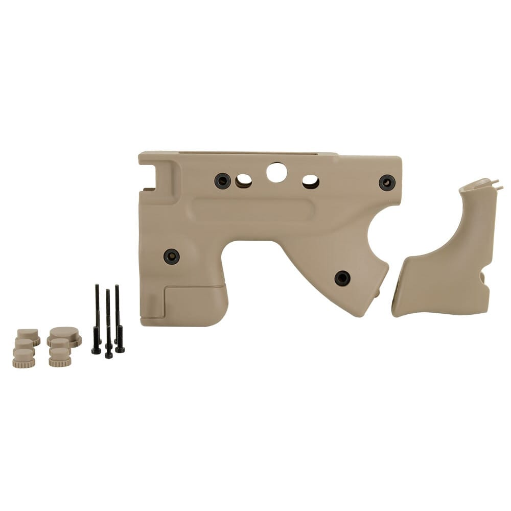 Accuracy International THUMBHOLE GRIP UPGRADE KIT, FOLDING,  (thumbhole backstrap, and rear end mouldings plus screws ) to fit NEW style stocksides  only Dark Earth 26723PB|26723DE
