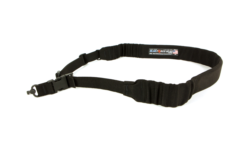 Blue Force Gear UDC Padded Bungee One Point Sling with Push Button Adapter Black.|UDC-200-BG-PB-BK