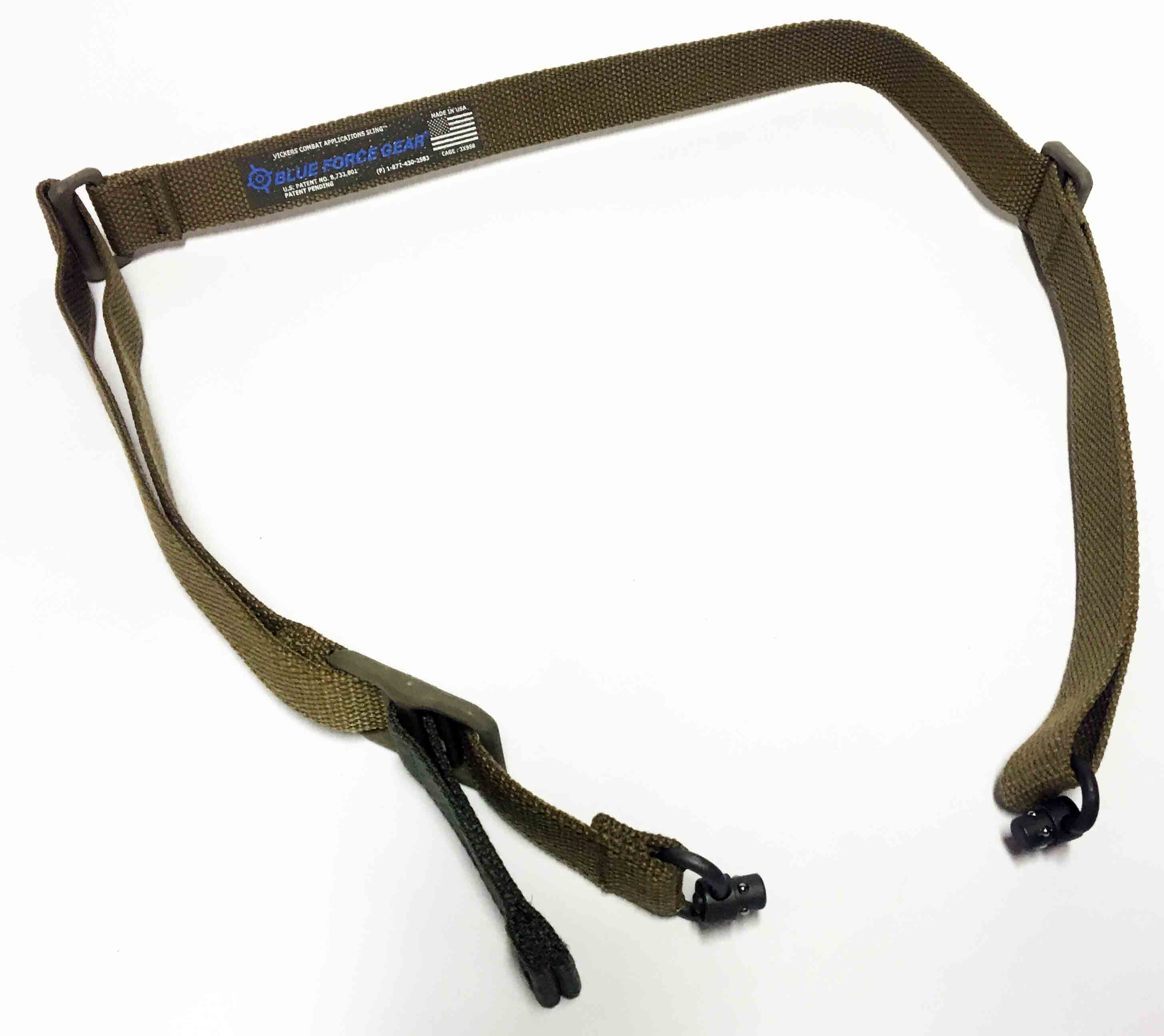 Blue Force Gear Vickers Sling Dual Push Button Molded Nylon hardware Coyote Brown|VCAS-PB-125-AA-CB