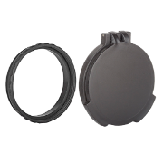 Tenebraex Tactical Tough Flip Cover with Adapter Ring, Objective, Black in color, to fit Schmidt & Bender 5-25x56 PM II/LP/MTC.  Double Tab Cover.|SB5600-FCV