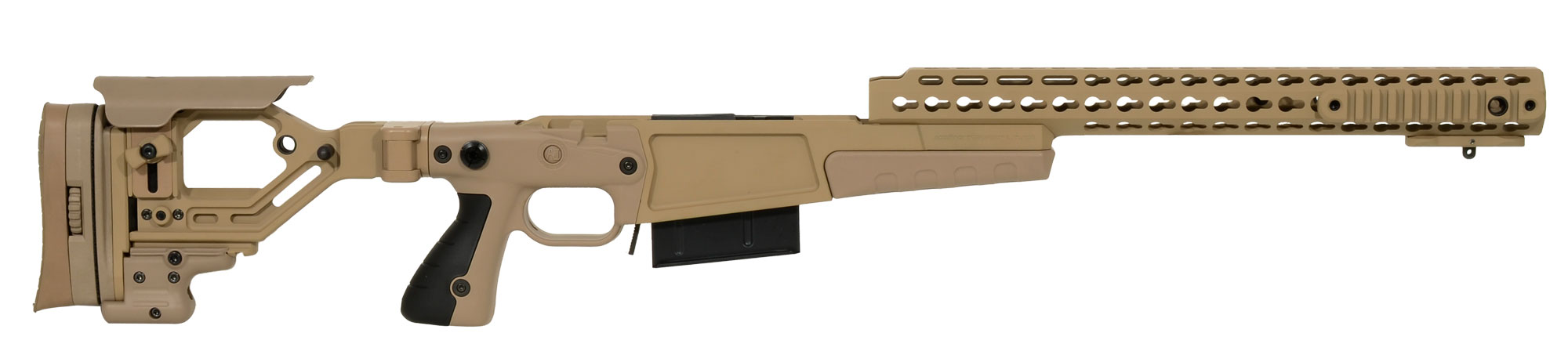 "Accuracy International AX AICS Chassis REM 700 LA .300 WIN 16"" forend tube PALE BROWN 26713PB 26713PB"