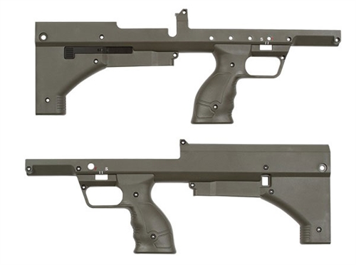 Desert Tech SRS A1 OD Green Chassis Skin Set